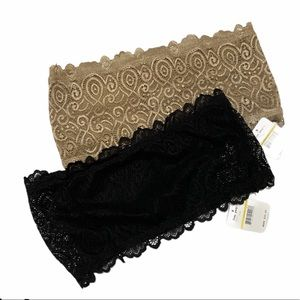 NWT FREE PEOPLE Seamless Lace Reversible Bandeau